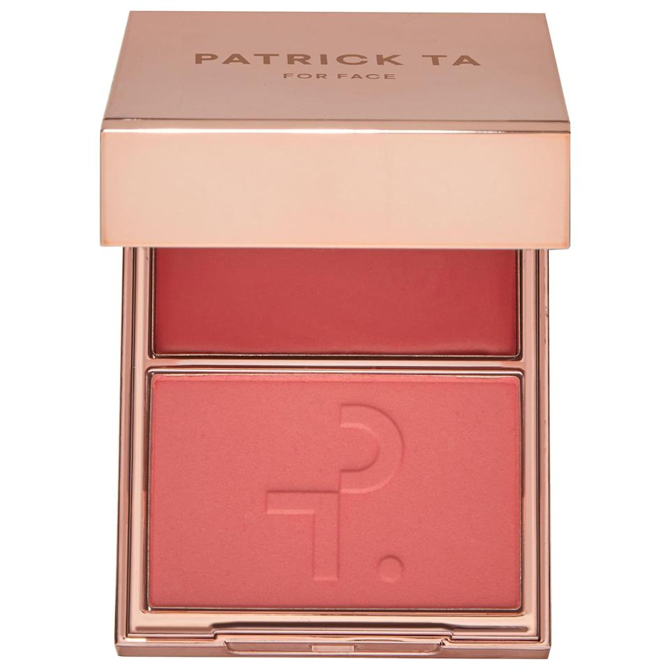 <p>Struggling with even seemingly simple decisions these days? Well, at least this new <span>Patrick Ta Major Beauty Headlines - Double-Take Crème and Powder Blush</span> ($34) won't make you choose between two different formulas . . . though you <em>will</em> need to decide if you're wearing one of the new complementary colors/textures solo or layering them both.</p>
