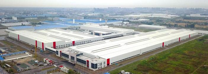 "An aerial view of the Jiangsu Saleen auto plant in Rugao, China. <span class=""copyright"">(Saleen Automotive Inc.)</span>"