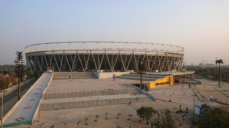 The world's biggest cricket stadium will be formally opened on Monday