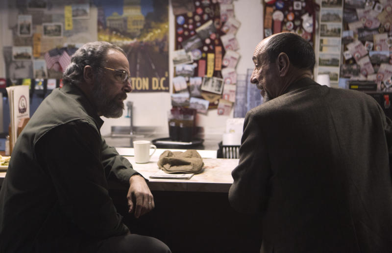 "Mandy Patinkin as Saul Berenson and F. Murray Abraham as Dar Adal in the ""Homeland"" Season 2 episode, ""Broken Hearts."""