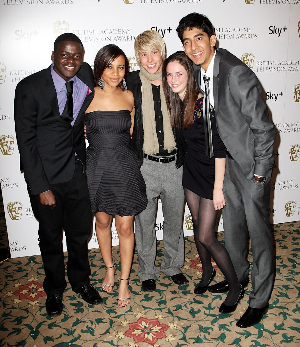 Daniel Kaluuya, Larissa Wilson, Maxxie Hewer, Kaya Scodelario and Dev Patel at the British Academy Television And Craft Awards Nominees Reception at the Landmark Hotel in London on April 10, 2008.