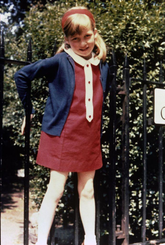 """<p>This family album picture of Diana shows her in <a href=""""https://www.parksandgardens.org/places/cadogan-place"""" rel=""""nofollow noopener"""" target=""""_blank"""" data-ylk=""""slk:Cadogan Place Gardens"""" class=""""link rapid-noclick-resp"""">Cadogan Place Gardens</a>, London, in the summer of 1968.</p>"""