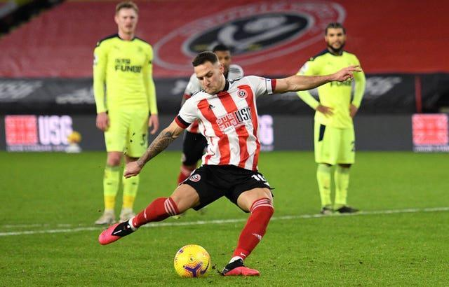 Billy Sharp scores Sheffield United's winner from the penalty spot