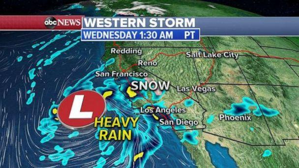 PHOTO: Western storm - Wednesday 1:30 a.m. (ABC News)