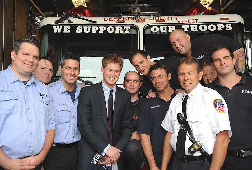 <p>In May 2009, Prince Harry paid a two-day visit to New York City, stopping to meet a fire crew while playing his respects at the World Trade Center. </p>