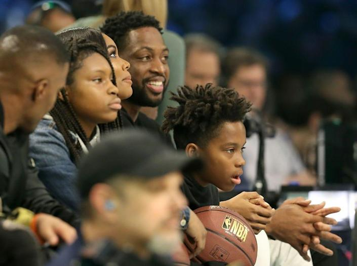 """The NBA basketball star said it's a parent's job """"to facilitate their lives and to support them and be behind them in whatever they want to do."""""""