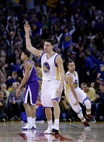 Take a bow, Klay. (Photo by Ezra Shaw/Getty Images)