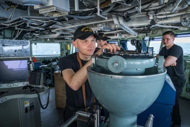Canadians sailors taking part in NATO Exercise Steadfast Defender.