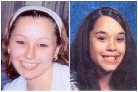 Amanda Marie Berry and Georgina Lynn Dejesus are pictured in this combination photograph in undated handout photos released by the FBI