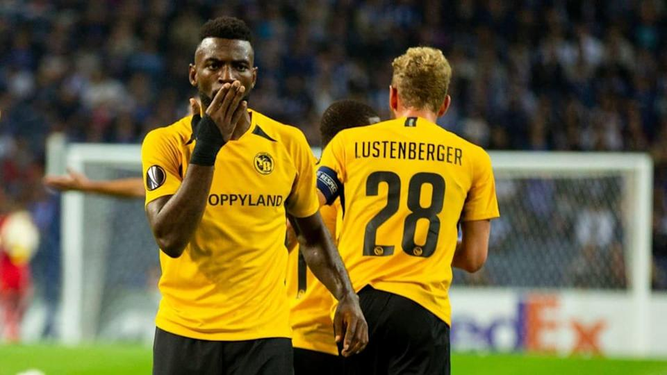 Young Boys's player Roger Assalé (R) celebrates after... | SOPA Images/Getty Images