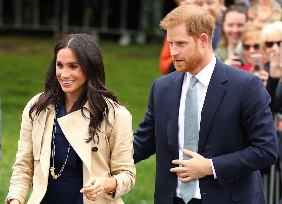 Meghan and Harry meet locals in Melbourne (Getty)