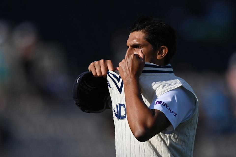 India's Ishant Sharma prepares to bowl on the final day of the ICC World Test Championship Final between New Zealand and India at the Ageas Bowl in Southampton, southwest England on June 23, 2021. - RESTRICTED TO EDITORIAL USE (Photo by Glyn KIRK / AFP) / RESTRICTED TO EDITORIAL USE (Photo by GLYN KIRK/AFP via Getty Images)
