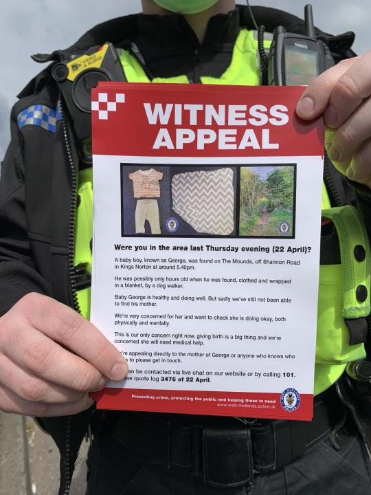 Witness appeal to trace George's mother