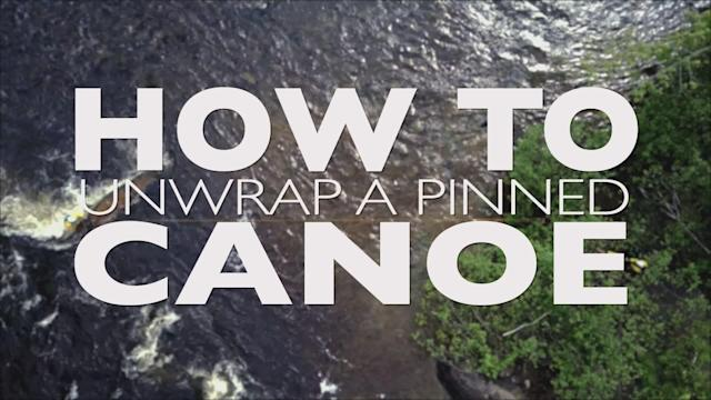 Swiftwater rescue know-how on the steps to un-wrapping a canoe pinned on a mid-river obstacle, presented by Boreal River Rescue and Five 2 Nine productions.