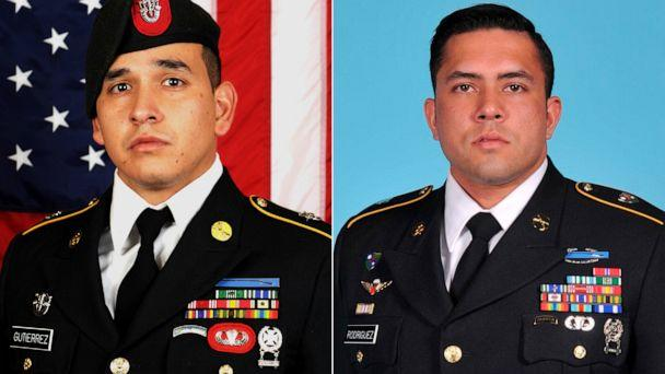 PHOTO: Sgt. 1st Class Javier J. Gutierrez, 28, of San Antonio, Texas, and Sgt. 1st Class Antonio R. Rodriguez, 28, of Las Cruces, N.M., died Feb. 8, 2020, from wounds sustained during combat operations in Nangarhar Province, Afghanistan. (U.S. Army Special Operations Command via AP)
