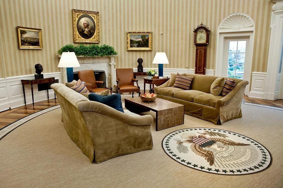 <p>The Oval Office was created by President Howard Taft in 1909, when he called for an expansion of the West Wing, where the office is located.</p> <p>A fire in that wing broke out on Christmas Eve in 1929, damaging much of the structure and its furnishings. </p>