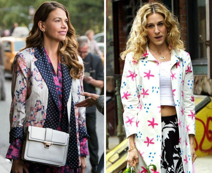 Liza (Sutton Foster) and Carrie (Sarah Jessica Parker). (Photos: TV Land, Getty Images)