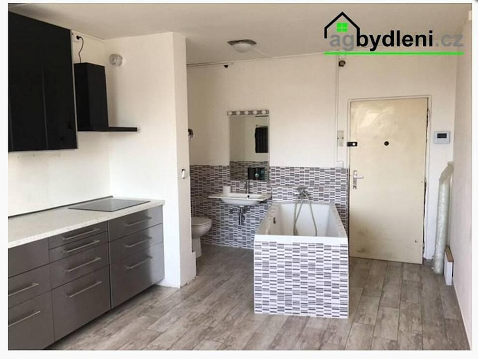 apartment with bathroom in kitchen