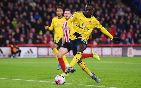 Nicolas Pepe misses from close range - Credit: getty images