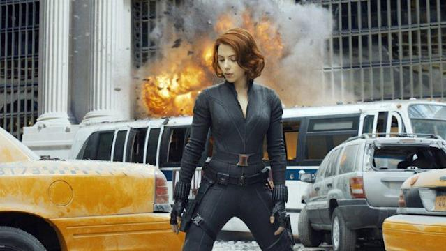 <em>The Avengers</em>, Scarlett Johansson, 2012. (©Walt Disney Studios Motion Pictures/Courtesy Everett Collection)