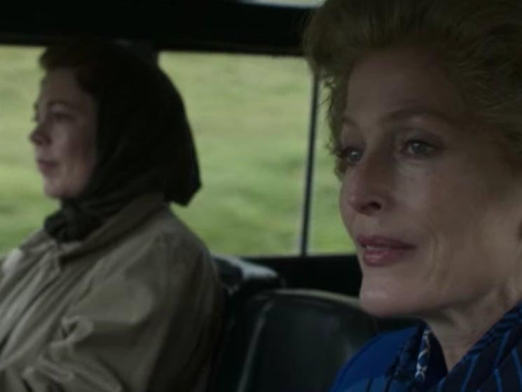<p>The Queen (Olivia Colman) puts Margaret Thatcher (Gillian Anderson) to the test in 'The Crown'</p>Netflix
