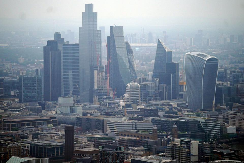 Aerial views of the London skyline (PA Wire)