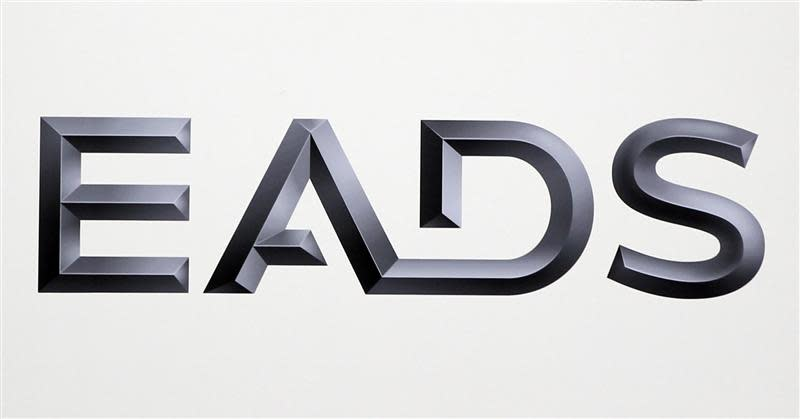 File photo of logo of EADS is seen at the European aerospace and defence group EADS headquarters in Les Mureaux near Paris