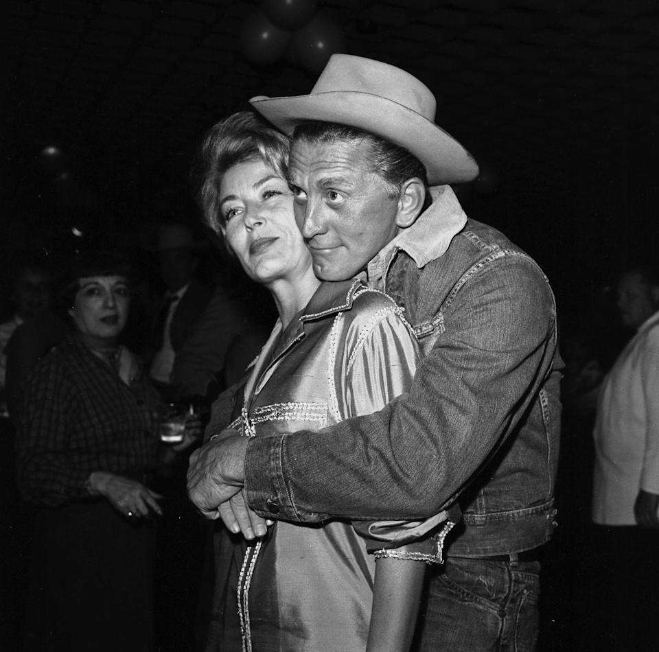 <p>Douglas and wife Buydens at a party in Los Angeles. </p>