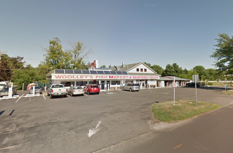 Pictured is Woolley's Fish Market and Seafood House in New Jersey, where the teacher was working.