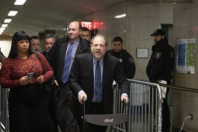 Harvey Weinstein arrives for his trial in New York
