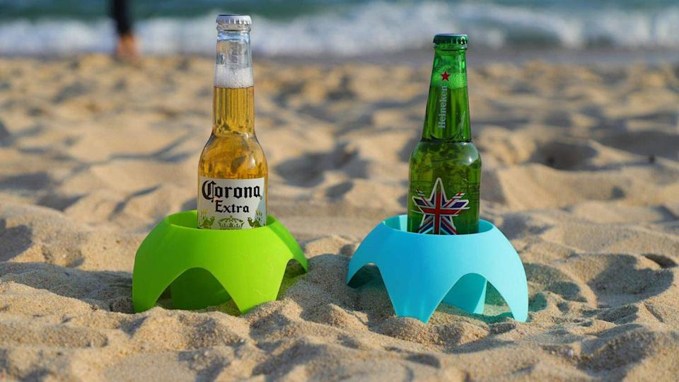 Beach Vacation Accessories, AOMAIS Beach Sand Coasters Drink Cup Holders
