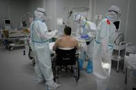 Patients admit they are lucky to be treated at the makeshift hospital in Moscow's Sokolniki Park