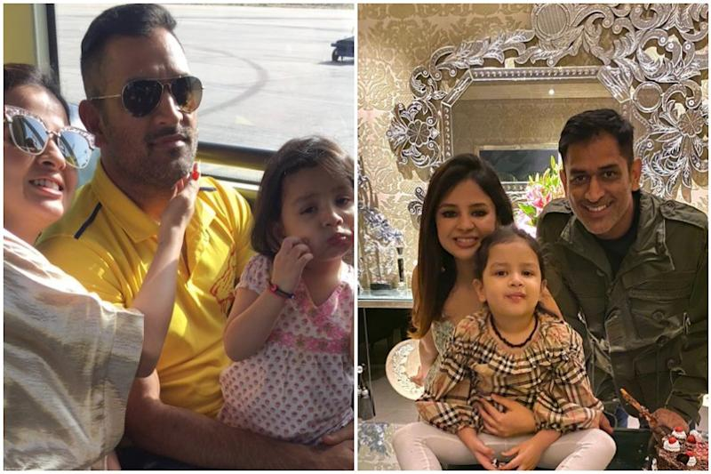 MS Dhoni and Ziva Celebrate Sakshi's Birthday with Friends, CSK Calls Her 'Queen of the Jungle'
