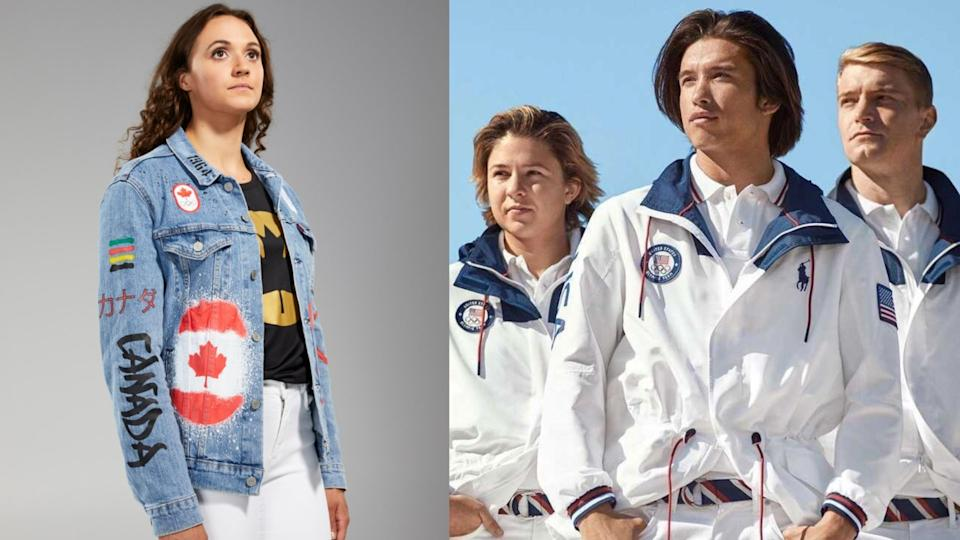 Team Canada and Team USA have revealed their closing ceremony uniforms for the upcoming Tokyo Olympics. (Images via Team Canada/Team USA Polo Ralph Lauren)