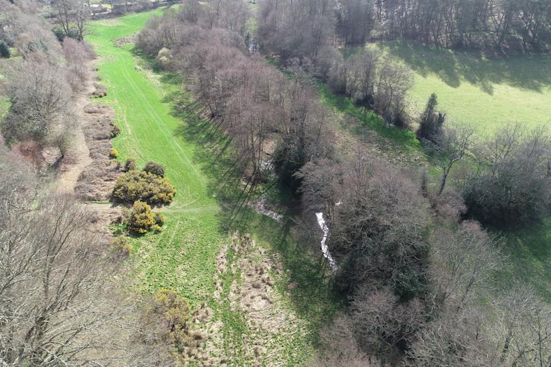 An aerial view of the area at Valewood where the beavers will be (National Trust/PA)