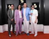 <p>Weezer attends the 61st annual Grammy Awards at Staples Center on Feb. 10, 2019, in Los Angeles. </p>