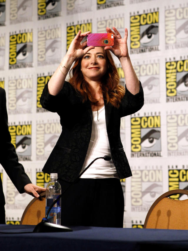 "Alyson Hannigan during the ""How I Met Your Mother"" Panel at Comic-Con 2013, held in San Diego, Ca."