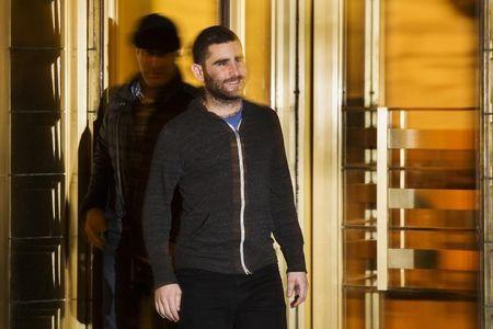 Bitcoin Foundation Vice Chairman Shrem exits the Manhattan Federal Courthouse in New York