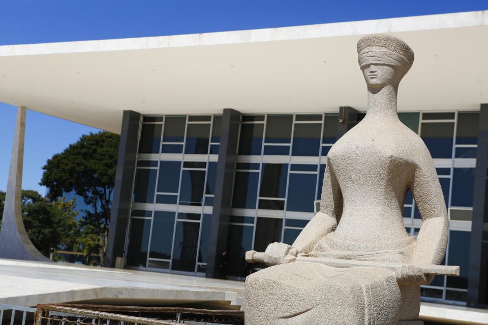 BRASILIA, BRAZIL - JUNE 16: View of Supremo Tribunal Federal on June 16, 2014 in Brasilia, Brazil. (Photo by Gabriel Rossi/LatinContent via Getty Images)