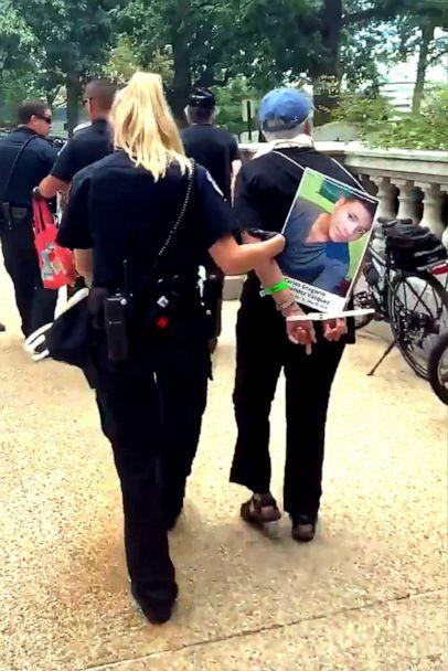PHOTO:Protesters are arrested at the Capitol in Washington, D.C., July 18, 2019. (Holly Barker Medill News Service/Twitter)