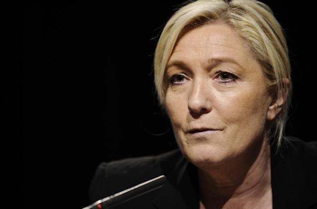 Leader of the french far-right Front National (FN) party Marine Le Pen said Saint-Germain's star striker Zlatan Ibrahimovic should leave France (AFP Photo/Jean-Christophe Verhaegen)