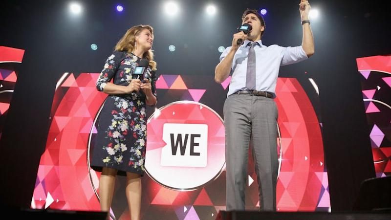 Celebrity Charity: Sophie Gregoire Trudeau and Top Minister Justin Trudeau appear at a WE Day UN occasion in Contemporary York in 2017