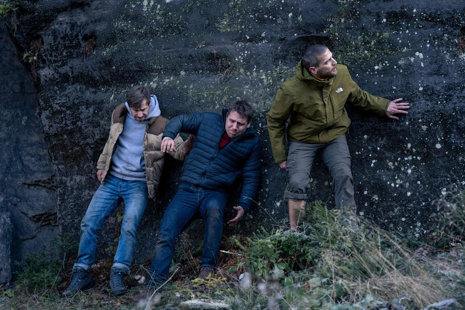 """<em><strong>Prey </strong></em><br><br>Why is it that stag dos in films always go so wrong? <em>Prey</em> takes things one step further than <em>The Hangover </em>when a bachelor party heads out on a hiking trip before the wedding. Hearing gunshots, they realise that they've got caught up in a mystery shootout and must do everything they can to survive.<br><br>Available 10th September<span class=""""copyright"""">Photo Courtesy of Netflix.</span>"""