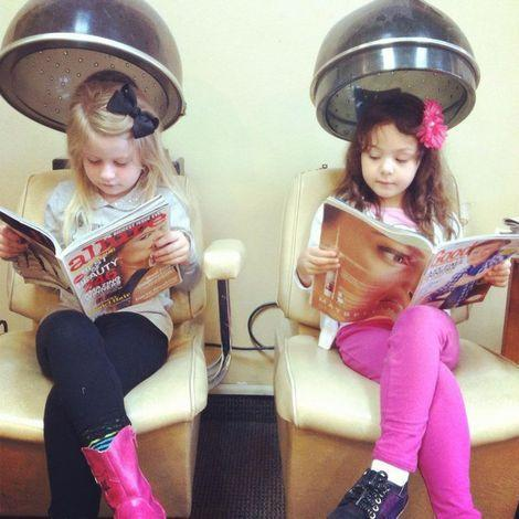 Just Two Ladies at the Beauty Shop
