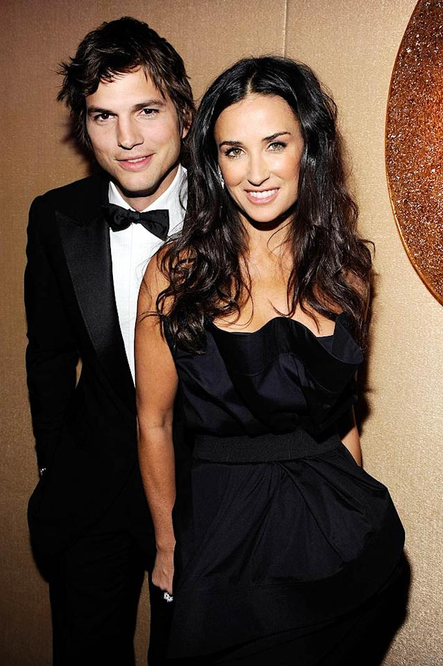 "Ashton Kutcher and Demi Moore made their May-December romance official when they tied the knot in September 2005. Thanks to Twitter, they continue to share their love with the world on a daily basis. Kevin Mazur/<a href=""http://www.wireimage.com"" target=""new"">WireImage.com</a> - January 20, 2009"