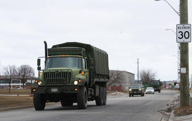 The Canadian Armed Forces says training is taking place in parts of Windsor-Essex and Chatham on the weekend. (Submitted by Canadian Armed Forces - image credit)