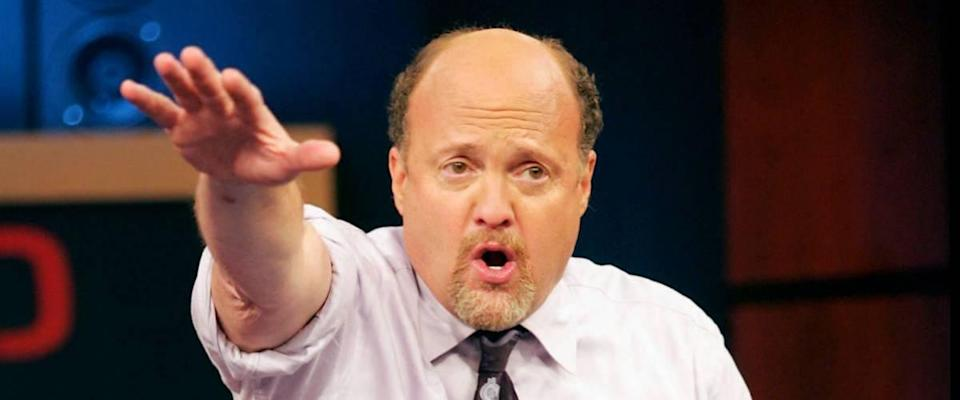 Jim Cramer on Mad Money, gesturing with his arm and talking