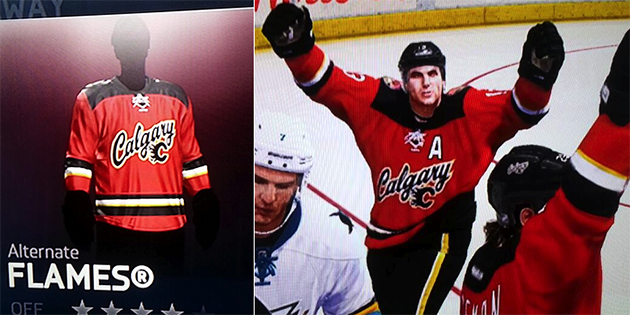 best service 9e2a2 c14ba Jersey leak: Calgary Flames new thirds appear on NHL 14?
