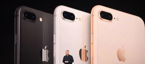 The iPhone 8 comes in three colours - Credit: Getty