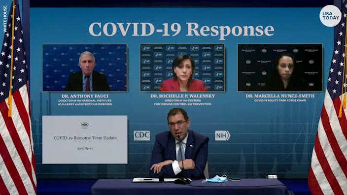 Health officials announced an agreement to expand the use of a COVID-19 home test to provide about 8.5 million tests per month in the US.